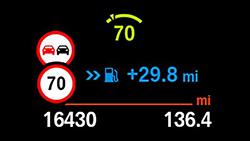 Інформація про обмеження швидкості.