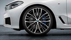21-дюймові легкосплавні колеса BMW V-Spoke 687 кольору Bicolor Jet Black, тільки переднє колесо, без шини.
