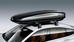 Багажний бокс BMW 520, чорний/сріблистий титан.