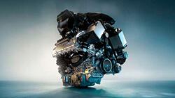 Високоефективний 8-циліндровий бензиновий двигун M TwinPower Turbo.